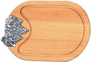 obstbrett k sebrett aus holz mit traubenapplikation 12 73 eur. Black Bedroom Furniture Sets. Home Design Ideas