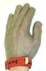 Euroflex-Stechhandschuh mit Kunststoffband M = Mittel (Rot)