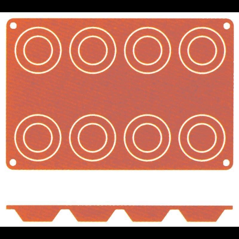 silikon backmatte tortelett mit 8 formen 14 48. Black Bedroom Furniture Sets. Home Design Ideas