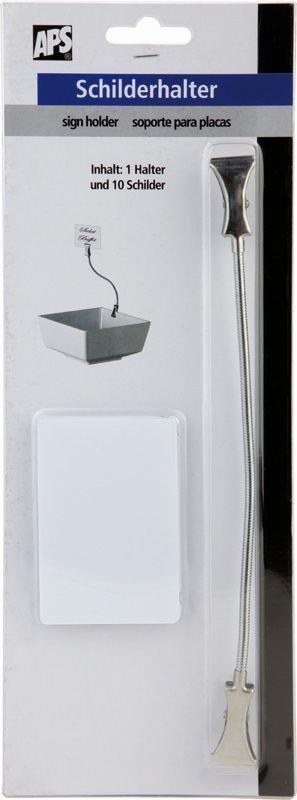 Schilderhalter -FLEXIBEL- 12 cm mit Schilder
