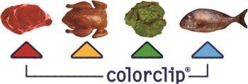 Farbige Markierungsclips für Deckel und Behälter