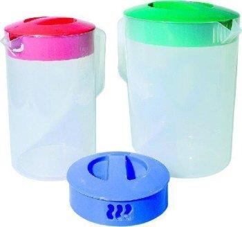 Messbecher mit farbigen Deckeln Inh. 1,8 Liter -- Skala...