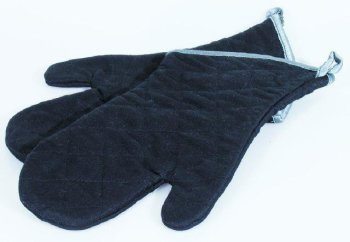 Hitze-Handschuhe schwarz, grau