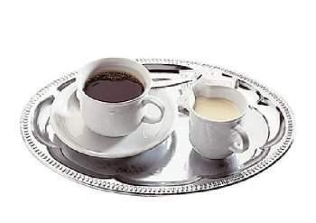 Serviertablett -Kaffeehaus-