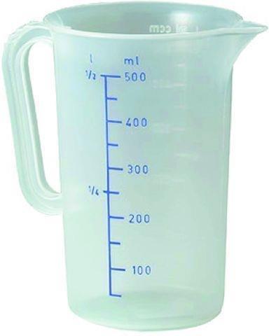 Messbecher Inhalt 1,0 Liter -- Ř 12,0 cm -- Höhe 17,0 cm