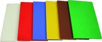 PE-Schneidbrett nach HACCP-Vorschrift Braun 40x25x1,2cm