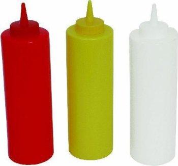 Quetschflasche PE Farbe rot für Ketchup -- Inhalt...