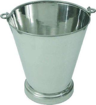 Chrom-Nickel-Stahl-Eimer mit Bodenreif ca.-Inhalt 10,0 Liter