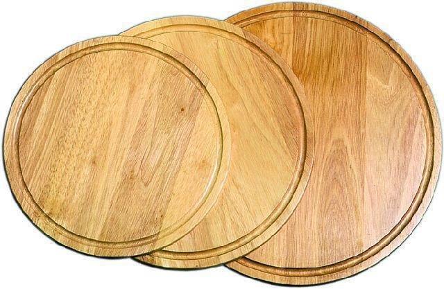 Holz - Pizzateller 280 mm für-Pizza-Ř 220 + 240 mm